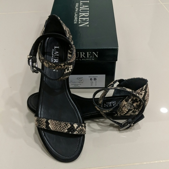 Ralph Lauren Shoes - New! Ralph Lauren Davison snakeskin sandals